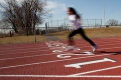 孤立赛跑者 库存照片