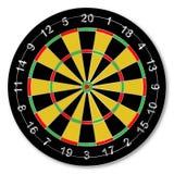 孤立Dartsboard 免版税图库摄影