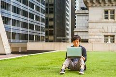 学习在纽约的年轻日本学生 免版税库存照片