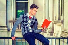 学习在纽约的美国大学生 免版税库存照片