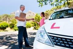 学会驾驶 免版税库存图片