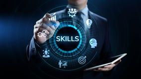学会个人发展能力企业概念的技能教育 向量例证