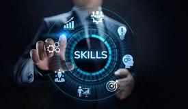 学会个人发展能力企业概念的技能教育 库存例证