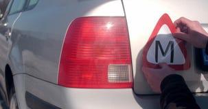 学会司机贴纸欧盟拉脱维亚立陶宛 股票录像