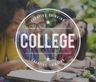 学会大学研究概念的学院 免版税库存图片