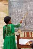 学会字母表,儿童教育 免版税库存图片