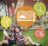 学会技能教育概念的知识训练 免版税库存图片