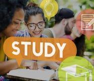 学会改善洞察概念的研究教育 免版税库存照片