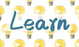学会教育研究洞察知识想法改善Concep 库存照片