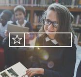 学会框架图表概念的学生教育 免版税库存图片