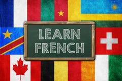 学会法语 库存图片