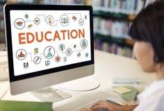 学会知识信息概念的教育研究 图库摄影