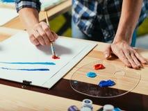 学会艺术艺术性技能的艺术家启发 库存照片