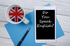 学会英国概念 对学会语言的时间 免版税图库摄影