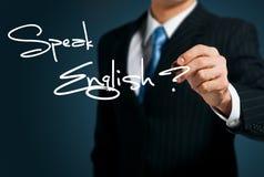 学会英语。 库存照片
