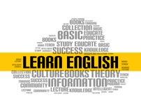 学会英语单词云彩路线 教育语言学校网上教训外国语 向量例证