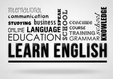 学会英语-拼贴画概念 向量例证