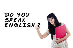 学会英语1 库存照片