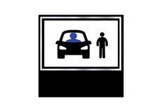 学会象传染媒介设计的驾驶学校 库存图片