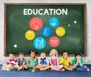 学会象集合概念的教育 免版税库存照片