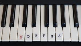 学会钢琴 免版税库存图片