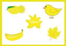 学会颜色,孩子学会颜色,乐趣活页练习题 免版税库存照片