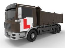 学会驾驶-卡车例证 免版税库存图片