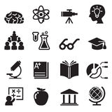 学会,聪明,被设置的天才象 库存例证