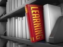 学会-书的标题 背景蓝色颜色概念互联网 免版税库存图片