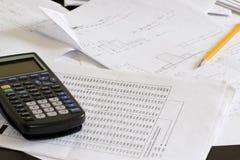 学员桌面 免版税图库摄影