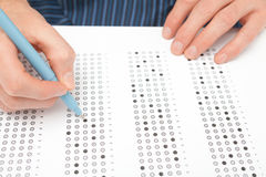 学员测试(检查) 免版税库存图片