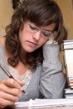 学员疲倦了 免版税库存照片
