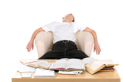 学员疲倦 免版税图库摄影