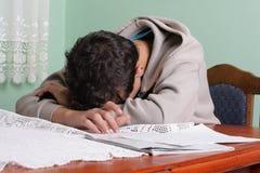 学员疲倦 免版税库存图片
