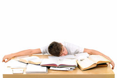 学员疲倦 库存照片