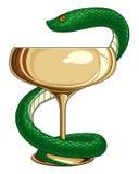 医学和药房蛇 库存图片