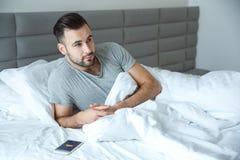 学士人每日定期唯一生活方式早晨概念醒困 免版税库存图片