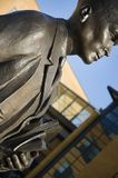 学术古铜色雕象大学 库存照片