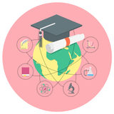 学术教育概念 库存例证