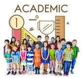 学术知识识字智慧教育概念 库存照片