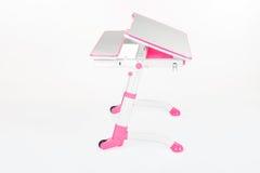 学校书桌和椅子桃红色 免版税图库摄影