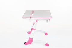 学校书桌和椅子桃红色 免版税库存照片