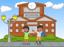 学校动画片传染媒介例证的孩子 免版税图库摄影