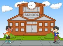 学校动画片传染媒介例证的孩子 图库摄影