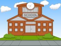 学校动画片传染媒介例证 图库摄影