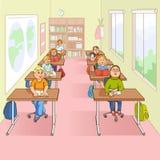 学校动画片例证的孩子 向量例证