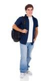 学校十几岁的男孩 免版税库存照片
