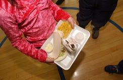 学校午餐饮食 库存照片