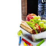 学校午餐 图库摄影