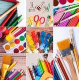 学校和办公用品汇集 库存图片